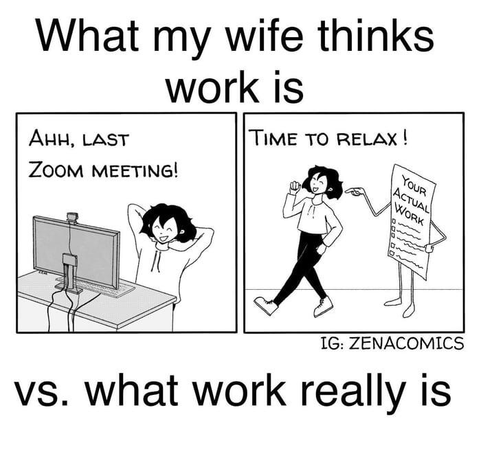 What you can't do during a zoom call